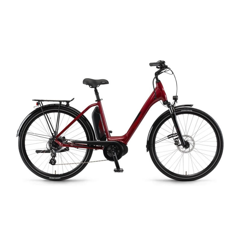 Vélo Electrique Winora Sima 7 400 Easy Entry Rouge Cerise 2018