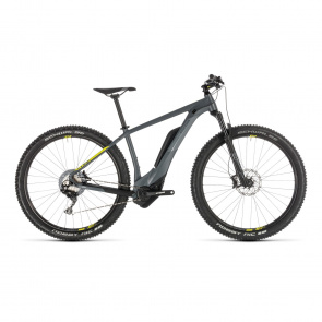 "Cube - Promo VTT Electrique 27.5"" Cube Reaction Hybrid Race 500 Gris/Jaune 2019 (234150)"