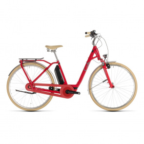 Cube - Promo Vélo Electrique Cube Elly Cruise Hybrid 400 Easy Entry Rouge/Menthe 2019 (232610)