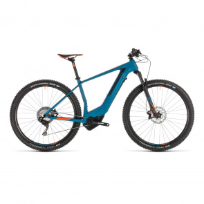 "Cube - Promo VTT Electrique 29"" Cube Elite Hybrid C:62 Race 500 Bleu/Orange 2019 (234395)"