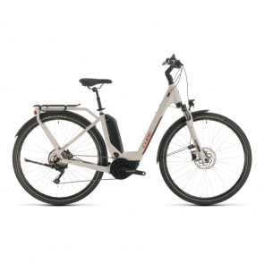Cube 2020 Cube Touring Hybrid Pro 500 Easy Entry Elektrische Fiets Grijs/Rood 2020 (331111)