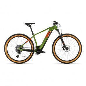 "Cube 2020 VTT Electrique 29"" Cube Reaction Hybrid EX 500 Vert/Orange 2020 (334261)"