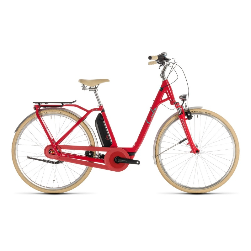 Vélo Electrique Cube Elly Cruise Hybrid 500 Easy Entry Rouge/Menthe 2019 (232611)